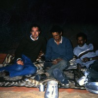 1981, with Polisario fighters, Western Sahara