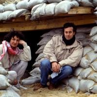 1991, with Gabriella in Saudi Arabia, Operation Desert Storm