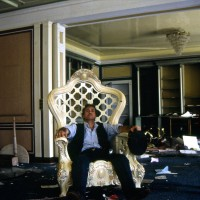 1997, resting in the Big Man's throne, Mobutu's palace, Kinshasa, Zaire