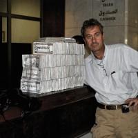 2003, my weekly bill at the Rashid Hotel, Baghdad