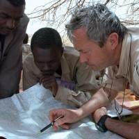 2004, with rebel Commander Minni Minnawi in Darfur, Sudan