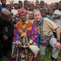 2005, with a tribal Chief in the Democratic Republic of Congo