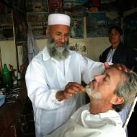 2007, my barber in Kabul, Afghanistan