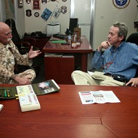 2007, with General Pompegnani in the Green Zone, Baghdad
