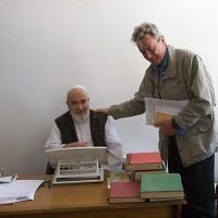 2008, with Grand Ayatollah Ali Montazeri, Qom, Iran