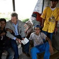 2009, with street children in Ciudad de Guatemala
