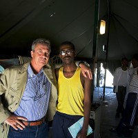 2009, with a Somali refugee in Malta