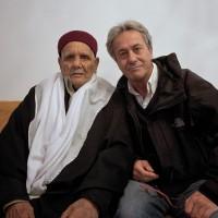 2011, with Omar al-Mukhtar last son in Benghazi, Libya